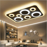 Wholesale Rc Lamp - modern Minimalism Led Ceiling Lights White RC+Dimming Living Study Room Bedroom lighting squrare LED Ceiling Lamp Fixture AC85-265V
