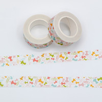 Wholesale Thumbtack Wholesalers - Wholesale- 2016 2017 Washi Tape Set Japanese Mixed Color Clips and Thumbtack Patterns Decorative Adhesive Scotch Tape 1PCS Lot