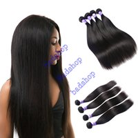 Wholesale Straight Brazillian Hair Brown - badshop Products Brazillian Hair Straight Weave 4pcs Dyeable Virgin Brazillian Straight Hair 100% Unprocessed Human Hair Extensions Soft