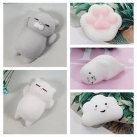Wholesale Bear Cat Rabbit - Cute Squishy Cat Mini Animal Soft Silicone Toy Fidget Hand Squeeze Pinch Toy for Healing Stress Relieving Bear Bunny Rabbit
