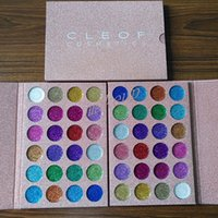 Wholesale Wholesale Free Delivery - Newest Makeup CLEOF Cosmetics 24 color Glitter Eyeshadow Palette Beauty Shimmer Eye Shadow free delivery DHL