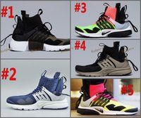 Wholesale Cargos Discount - 2017 Acronym Air Presto Mid Running Shoes,Discount Cheap Sneaker Trainers Sportswear,Black-bamboo Lava olive cargo green Sports Running Shoe
