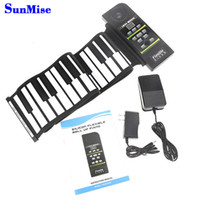 Wholesale Piano 88 - Top Quanlity 88 Keys Portable Flexible Roll-Up Piano USB MIDI Electronic Keyboard Hand Roll Up Piano wholesale