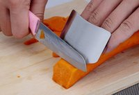 protector de cuchillo de dedo al por mayor-Protector de dedos de acero inoxidable Protector de manos Diseño personalizado Chop Safe Cuchillo de rebanada Herramientas seguras Accesorios de cocina necesarios
