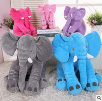 Wholesale Elephant Stuffed - Elephant Plush Pillow Elephant Stuffed Animal Toys Elephants Throw Pillow Baby Sleeping Elephants Pillow Kids Soft Dolls CCA5578 50pcs