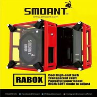 Wholesale Diy E Cigarettes - 100% Original Cloupor Electronic Cigarette Smoant Rabox e cigarette High Soft Adjustable Box Mod Vape DIY Mod Box e-cigarettes