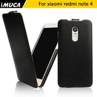 Wholesale Leather Flip Xiaomi Red Rice - Wholesale- Xiaomi Redmi Note 4 Case redmi note 4 Cover Luxury Flip Leather Cover Case For Xiaomi Redmi Note 4 Pro Prime Red Rice Note4 capa