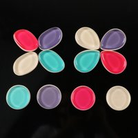 Wholesale Cotton Applicators - New Silicone Cotton Makeup Sponge Silicone Cutton Sponges Puff Cosmetic Blender Flawless Applicators for Cream Foundation Powder Blusher