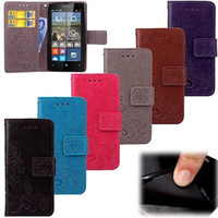 Wholesale cases for lumia phone online - Clover Flower Lucky Wallet Leather Case For Nokia Lumia Huawei P10 PLUS Mate Pro V9 Play LG K10 M2 X Power Phone Cover