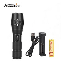 AloneFire E17 CREE XM-L T6 3800LM Lampe torche LED LED 5 modes Lampes flash Zoomable pour batterie 18650 rechargeable