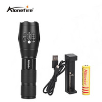 Wholesale Rechargeable Flashlight Mode - AloneFire E17 CREE XM-L T6 3800LM LED Flashlight Torch LED 5 Mode Zoomable Flashlights Light for 18650 Rechargeable battery