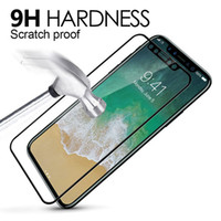 Wholesale Metal Guard - Titanium Alloy Metal Frame Screen Protector For Iphone X 8 7 Plus 3D iphone 7 6S 6 plus Curved Edge Full Cover Tempered Glass Guard Film