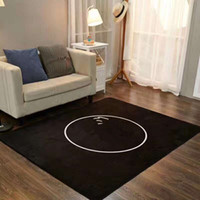 Wholesale white black C brown L rug x200cm fleece material with famous patter soft mat for home bedding room good quality