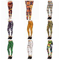 Wholesale Spandex Leggings For Women - New Arrival Printed Women leggings Halloween skull pumpkins for girl woman Digital Printed leggings Elastic Trousers pants