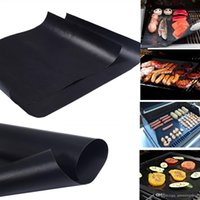 Wholesale Family Sheet - BBQ Grill Mats 5pcs lot Reusable Non Stick BBQ Grill Mat 40*33cm Sheet Portable Easy Clean OutDoor Cooking Tool BBQ Liner