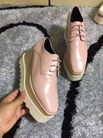 Wholesale thick british women - Star platform shoes Female thick bottom spring 2017 new slope with single square increased leisure shoes retro British star shoes