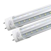tube chaud a conduit achat en gros de-36W LED tube lumière 4FT lampe fluorescente T8 G13 en forme de V 85-265V 4900lm 1200mm 4 pieds ft tubes blanc froid chaud En gros Hottest