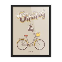 Wholesale Crown Spray Paint - Free shipping novelty gift Bike bicycle king crown pattern home decorative hanging poster photo picture