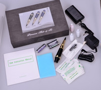 Wholesale Deluxe Tattoo - Wholesale- 1Set Permanent Makeup Machine Red Rose Deluxe Cosmetic Liner Permanent Makeup Tattoo Machine Kit