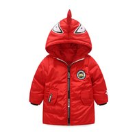 Wholesale Long Winter Coat Size Small - 2017 new winter in the size of the boys and girls thickening warm small monster casual tide fan coat long hooded jacket jacket
