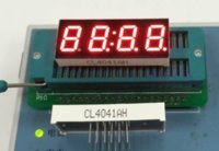Wholesale Clock Module Display - Wholesale- 10PCS x 0.4 inches Red With Clock Common Cathode  Anode 4 Digital Tube LED Display Module