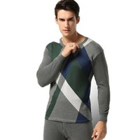 Wholesale Men s thermal underwear round neck Solid color Tight underwear Thickening youth Slim Autumn Qiuku suit B0011