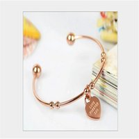 Wholesale Metallic Bangle Cuff - Stainless Steel Bracelet Cuff Bangle,rose gold High Polished Metallic Brushed Edges for Girls
