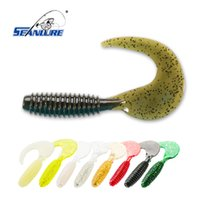 Wholesale Soft Worms Grubs - Seanlure Super Grubs 10cm 8.5g 10pcs Pack fishing lure soft lure bait freshwater fishing tackle