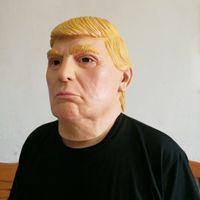 Wholesale President Masks - new US President Mr.Donald Trump Latex Mask Full Face men Costume Party Mask Halloween Overhead Mask wn254