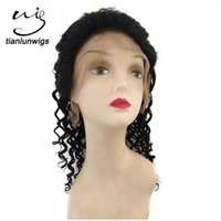 Wholesale Deep Wave China - 16inch deep wave brazilian hair human wigs wholesale china full lace modern way human hair wig lace front wig for black women
