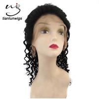 ingrosso capelli moderni-Parrucche umane dei capelli brasiliani dell'onda profonda 16inch all'ingrosso parrucca piena del merletto dei capelli umani di modo moderno pieno del merletto della Cina per le donne nere