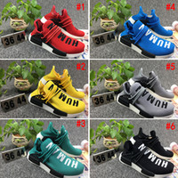 [Com caixa] 2017 Cheap Human Race NMD pharrell williams Mulheres Men Fashion Outdoor Training Sneaker nmd Human Races Running Shoes