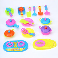 Wholesale Cute Funny Cart Cooking Kitchen Play Food Kids Pretend Toy Pot Pan