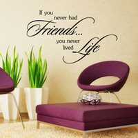 Wholesale Decorative Wall Wording - aw9342 If You Never Had Friends Quote Vinyl Wall Stickers Removable Decorative Decals English Words Inspirational Wall Sticker Decal