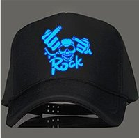 Wholesale Baseball Rock - Wholesale- Cool Noctilucent Metallica Snapback Rock Cap Skull Bone Baseball Gorras Casquette Hip Gop Gorra Visor Cappelli rocker skateboard
