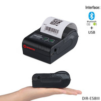 58mm Mini Handheld Wireless Thermal Receipt Drucker USB + Bluetooth 60mm / sec für Android, IOS, Windows Kleine Ticketdrucker
