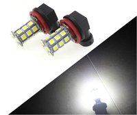2 Pcs Universal LED Car Light H11 H8 27 SMD 5050 LED Xenon Blanc Car Auto Véhicule Phare Ampoule Fog Head Lights Parking Lampe Ampoule