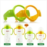 Оптово-2Pcs / lot ручка захвата бутылки для Pige0n Natural Wide Mouth PP Glass для кормления Baby Bottle Accessories MY45 GYH