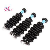 en iyi insan saçı örgüleri toptan satış-En iyi Fiyat Sınıf 7A 12-28 inç Derin Dalga Saç Örgüleri 3 Demetleri / lot Tam Başkanı Brezilyalı Dalgalı Saç Doğal 1B İnsan Saç