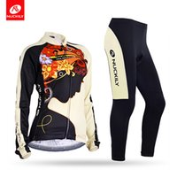 Wholesale Girls Uv Suit - Nuckily Flower pattern riding meditat girl design cycling set Anti UV with soft hand feeling female's long riding suit GC002GD002