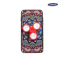 Wholesale Fingertip Covers - Super Hot LED Fidget Spinners Phone Case Spinner Phone Case For Iphone 7 Plus iPhone 6 2in1 Fingertips Gyro Cover Phone Case
