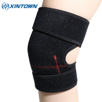 Vente en gros - Ajustable Elastique Kneepad Football Volleyball Extreme Sports Knee Pad Eblow Brace Support Lap Protect Protège-genoux cycliste