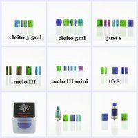 Wholesale demon glass - Demon Killer Replacement Resin Tube for TFV8 TFV12 Baby Cleito 3.5ml 5ml MELO 3 MELO III Mini iJust S PK Glass DHL