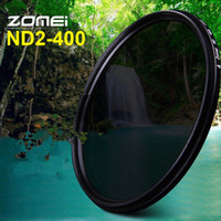 Wholesale Nd 67 - ZOMEI Glass Slim ND2-400 Neutral Density Fader Variable ND filter Adjustable 49 52 55 58 62 67 72 77 82mm 100% original