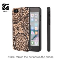 Wholesale I Guitar - U&I® Wholesale TPU Thin Wood Custom Phone Case Cover for iPhone 7 7Plus MusicalNotes Guitar Violin Bass for Apple 7 Screen Protector Cover