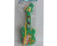 Wholesale Electric Guitar Children - Factory direct simulation guitar oversized can play baby six line chord plastic children puzzle music toys