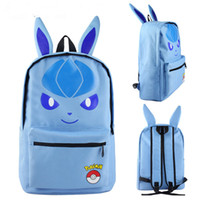 Wholesale Canvas Big Backpack For School - 14styles Big kids cartoon Backpack Anime poke stereo ears school backpacks Sylveon Eevee Vaporeon Pikachu bags for boy girls gifts