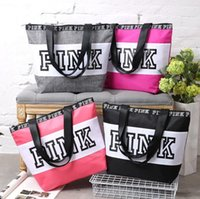 Wholesale Pink Letter Handbags VS Shoulder Bags Pink Purse Totes Travel Duffle Bags Waterproof Beach Bag Shoulder Bag Shopping Bags OOA1056