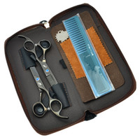 Wholesale hot selling children bags for sale - Group buy 5 Inch Inch Daomo Hot Sell Professional Hair Scissors Set Barber Hair Shears Salon Cutting Scissors Thinning Shears Bag LZS0618