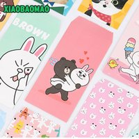 Atacado - 5pcs / lot Cartoon Design Envelope de papel encantador Envelope Office Gift Card Scrapbook